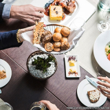 almoço coletivo na empresa orçamentos M'Boi Mirim