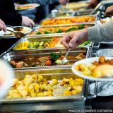 almoço transportado para empresas
