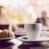 café da tarde na empresa Jardim Novo Mundo